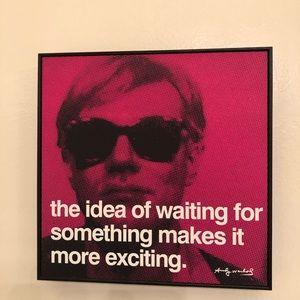Andy Warhol pop art wall print